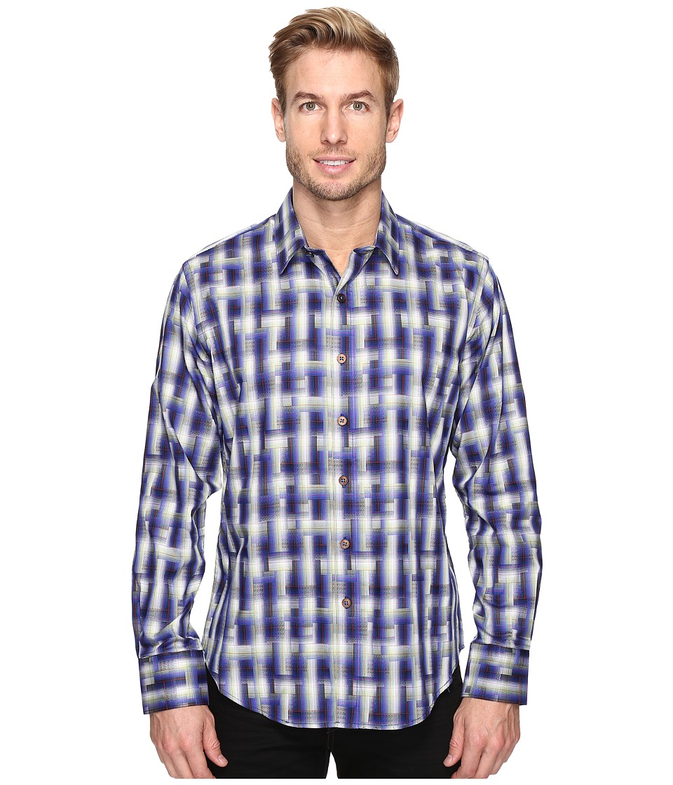 Robert Graham - Maidenhead Shirt (Navy) Men's Long Sleeve Button Up
