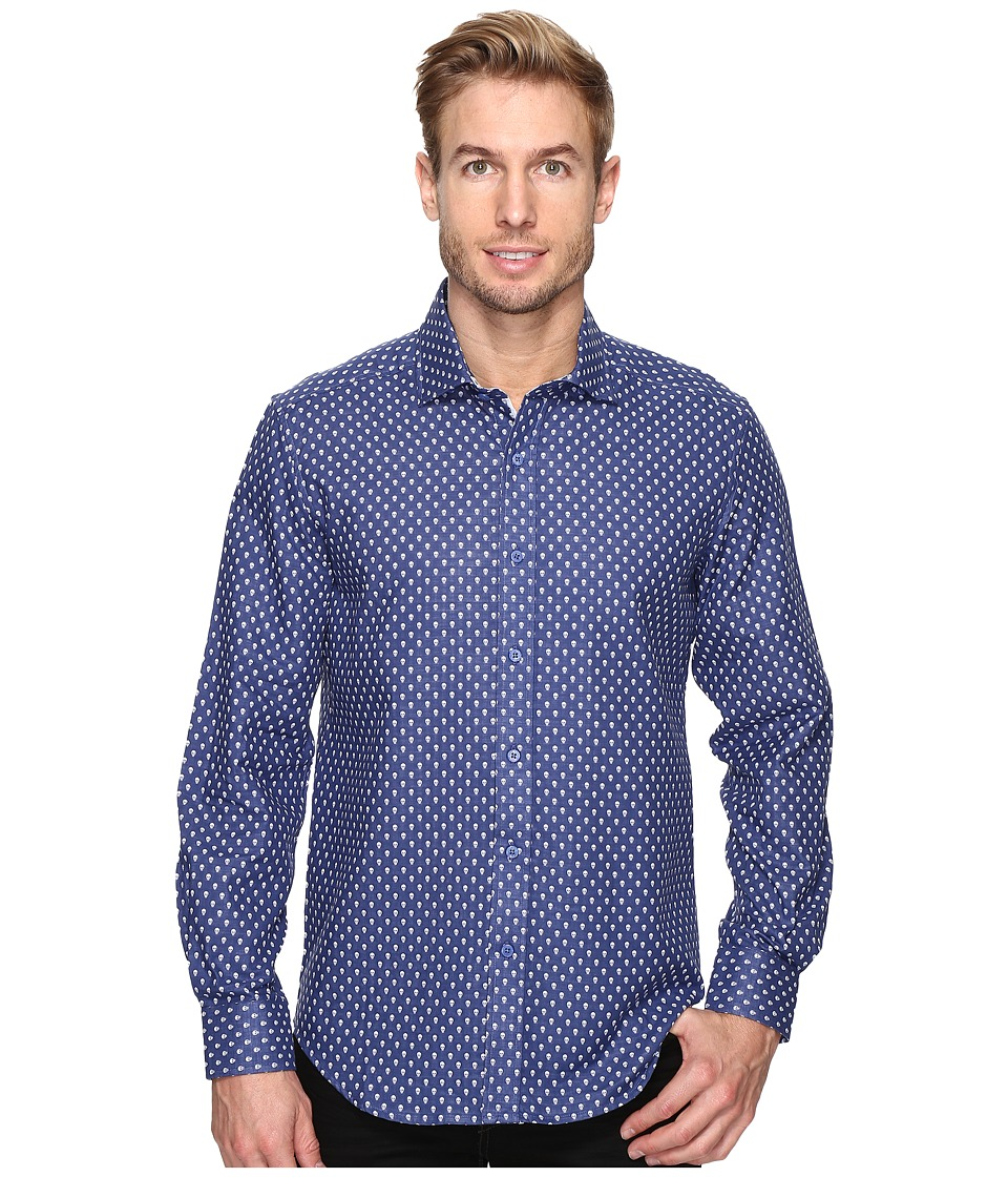 Robert Graham Cato Shirt (Navy) Men's Long Sleeve Button Up