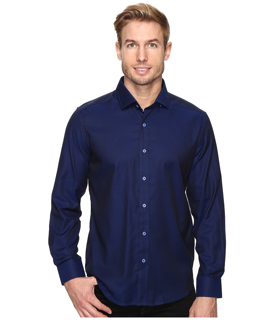 Robert Graham - Bernard Shirt (Navy) Men's Long Sleeve Button Up