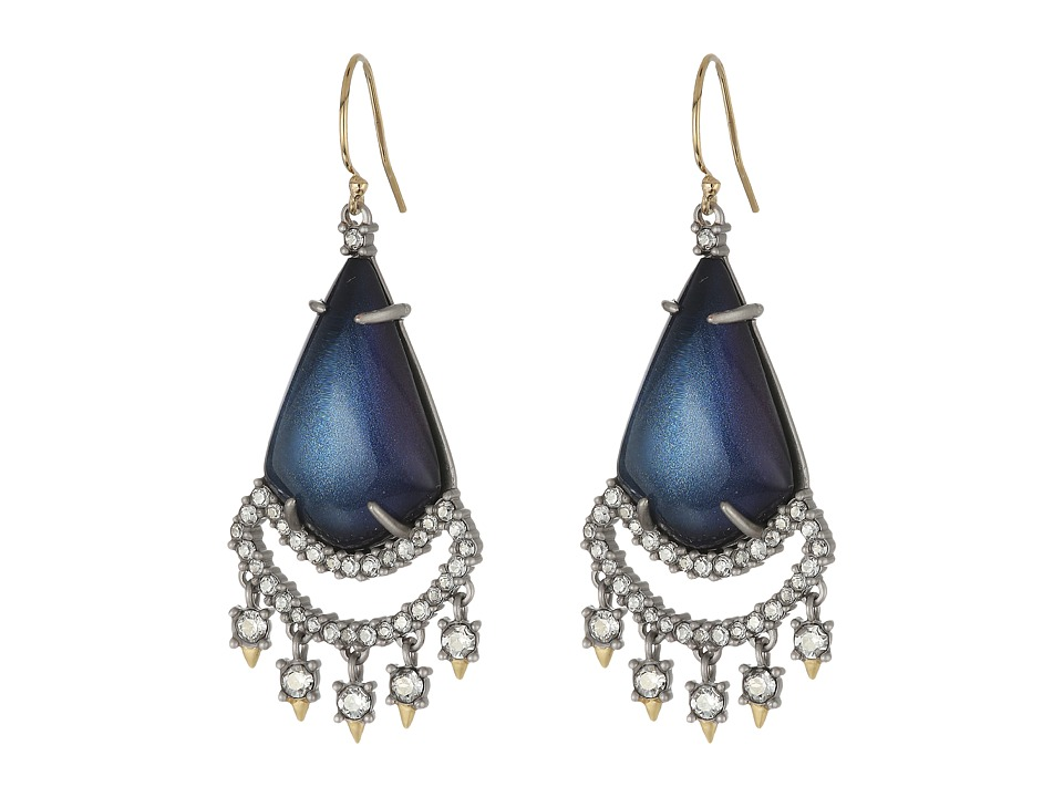 Alexis Bittar - Crystal Lace Chandelier Earrings (Blue Velvet) Earring