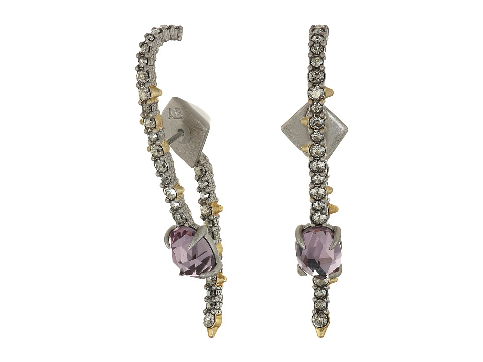 Alexis Bittar - Crystal Lace Ear Hook w/ Removable Jacket and Rose Cut Stone Earrings (Matte Rhodium/High Shine 10K Gold) Earring