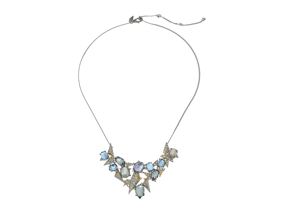 Alexis Bittar - Crystal Encrusted Mosaic Lace Pendant Necklace (Matte Rhodium/High Shine 10K Gold) Necklace
