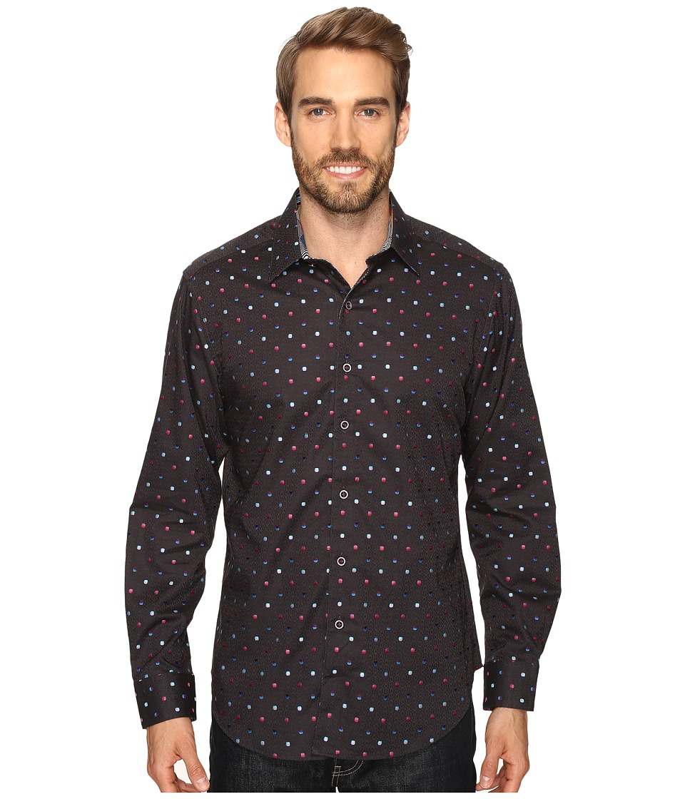 Robert Graham - Orion Arm Shirt (Charcoal) Men's Long Sleeve Button Up