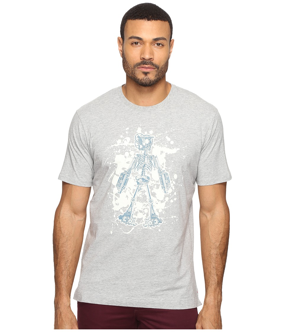 Robert Graham - Skeleton Robot T-Shirt (Heather Grey) Men's T Shirt