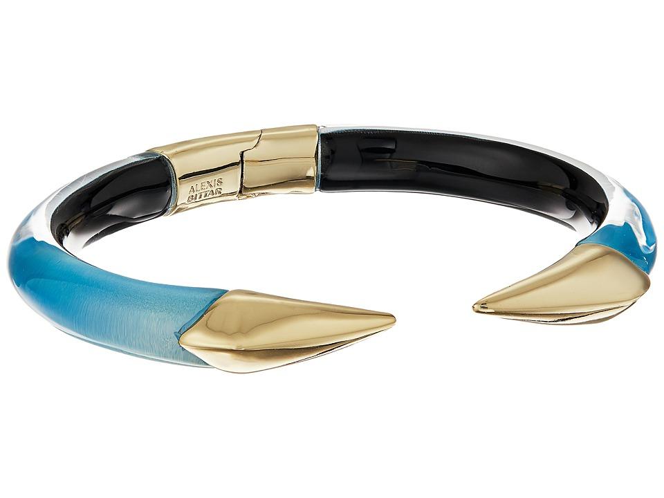 Alexis Bittar - Mirrored Pyramid Brake Hinge Bracelet (Blue Opal) Bracelet