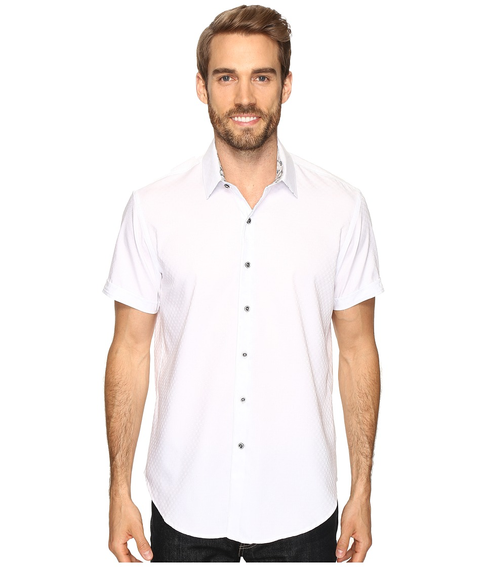 Robert Graham - Vertigo Shirt (White) Men's Short Sleeve Button Up