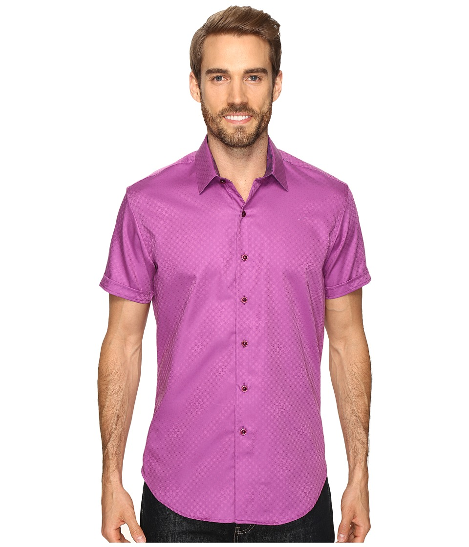 Robert Graham - Vertigo Shirt (Purple) Men's Short Sleeve Button Up
