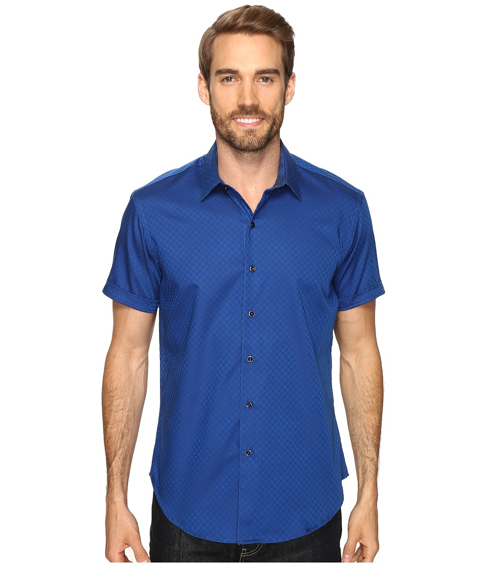 Robert Graham - Vertigo Shirt (Navy) Men's Short Sleeve Button Up