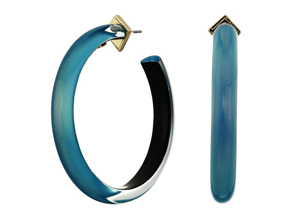Alexis Bittar - Large Hoop Earrings (Blue Opal) Earring