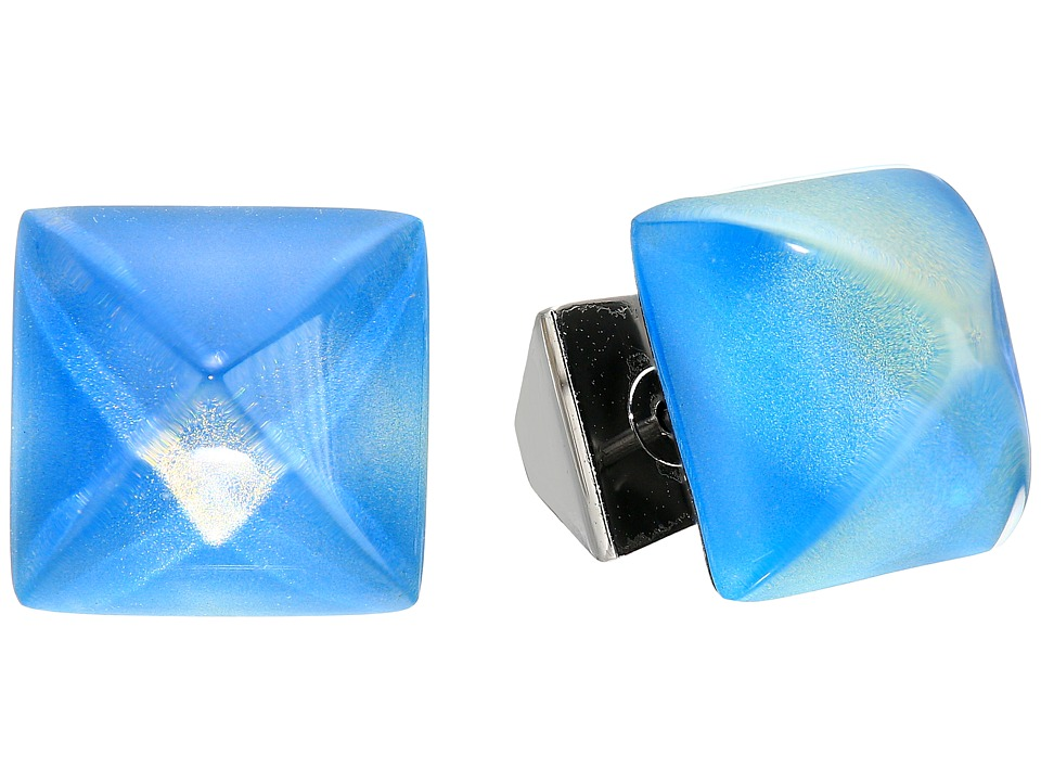 Alexis Bittar - Pyramid Post Earrings (Blue Opal) Earring