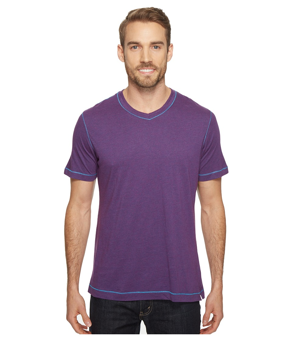 Robert Graham - Traveler Tee (Heather Purple) Men's Short Sleeve Pullover