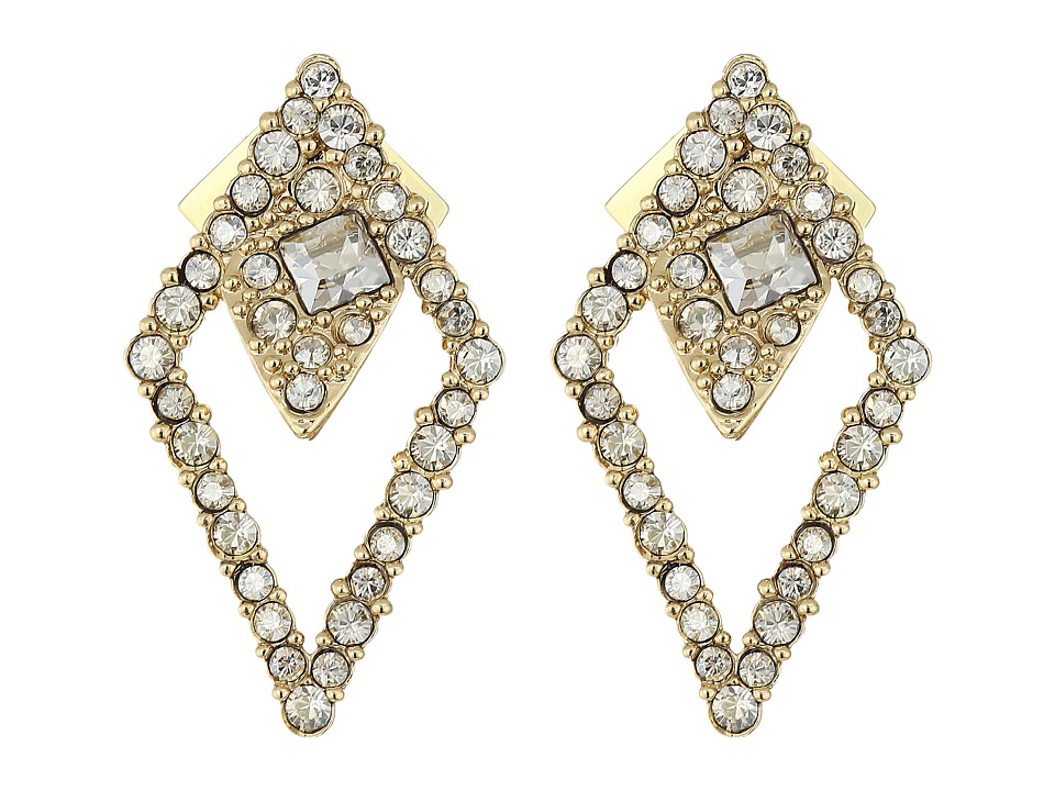 Alexis Bittar - Crystal Encrusted Spiked Lattice Post Earrings (10K Gold) Earring