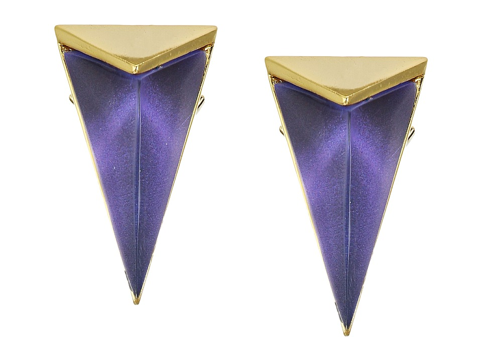 Alexis Bittar - Faceted Pyramid Post Earrings (Orchid Haze) Earring