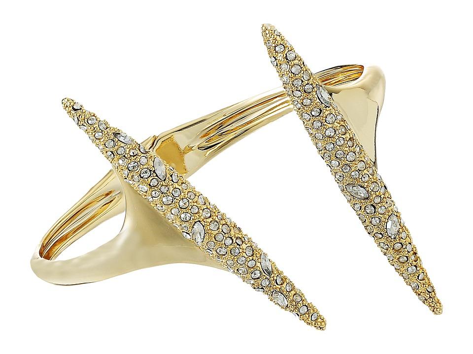Alexis Bittar - Crystal Encrusted Modernist Spear Hinge Bracelet (10K Gold) Bracelet