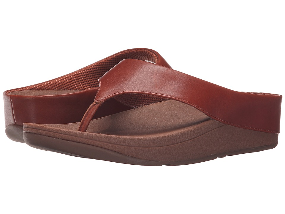 FitFlop - Ringer Toe Post (Dark Tan) Women's Sandals