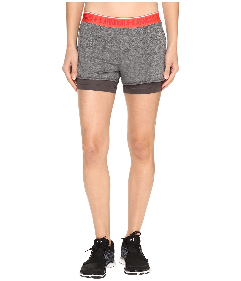 Under Armour - UA HG Armour 2-in-1 Shorty (Carbon Heather/Charcoal) Women's Shorts