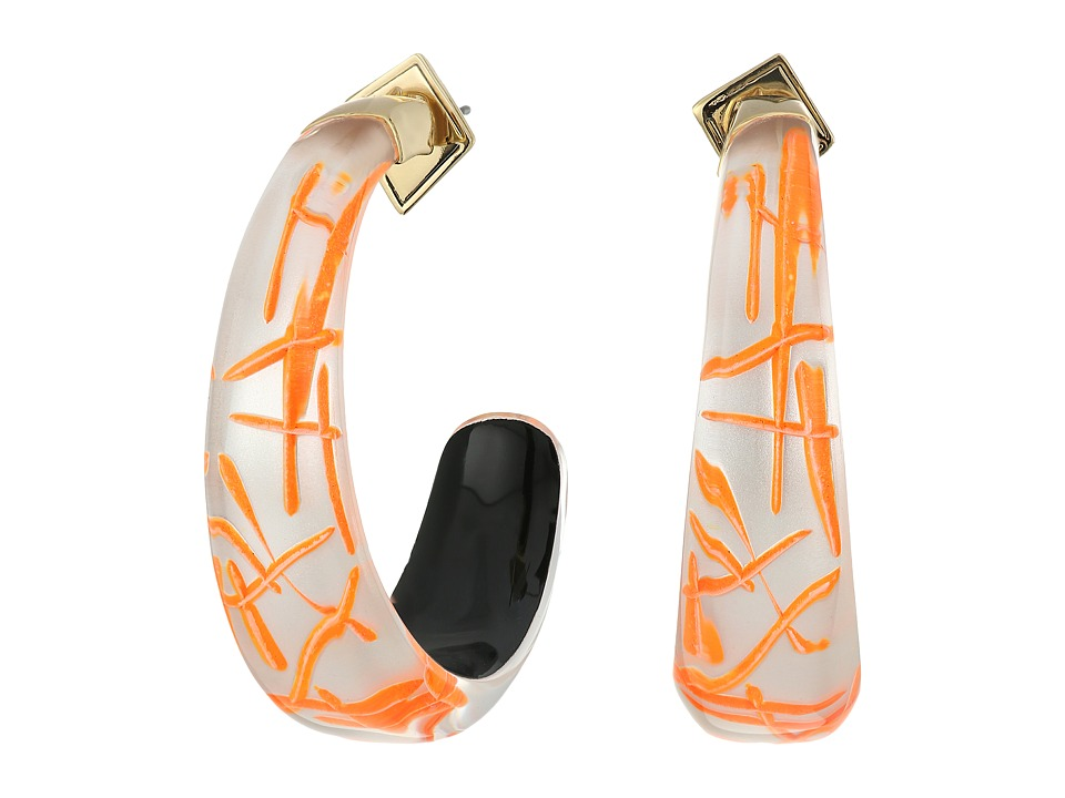 Alexis Bittar - Futurist Hoop Earrings (Rutilated Neon) Earring