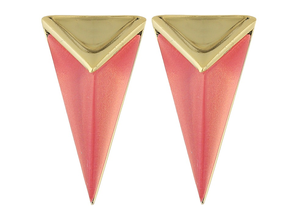 Alexis Bittar - Faceted Pyramid Post Earrings (Sweet Melon) Earring