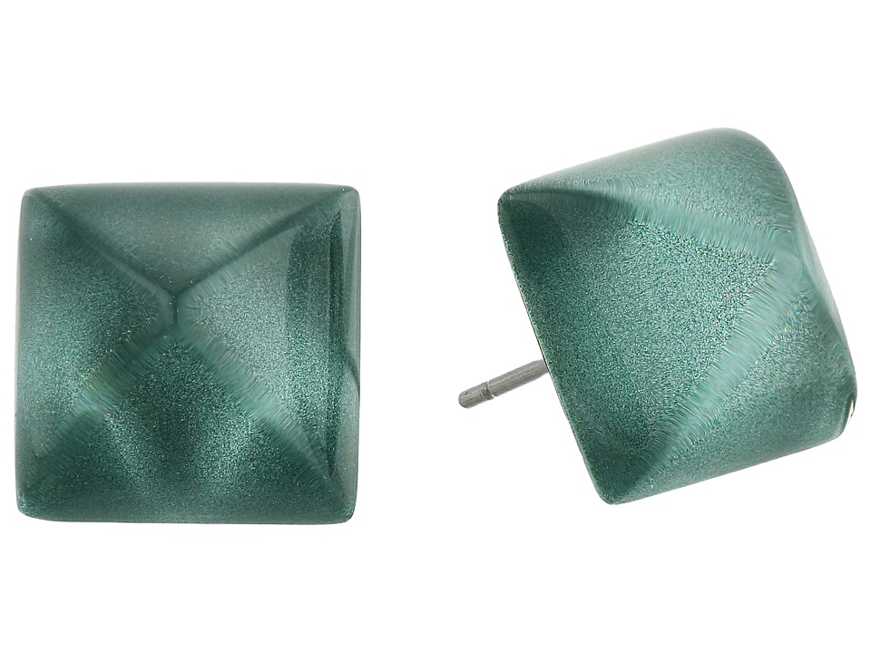 Alexis Bittar - Pyramid Post Earrings (Metallic Teal) Earring