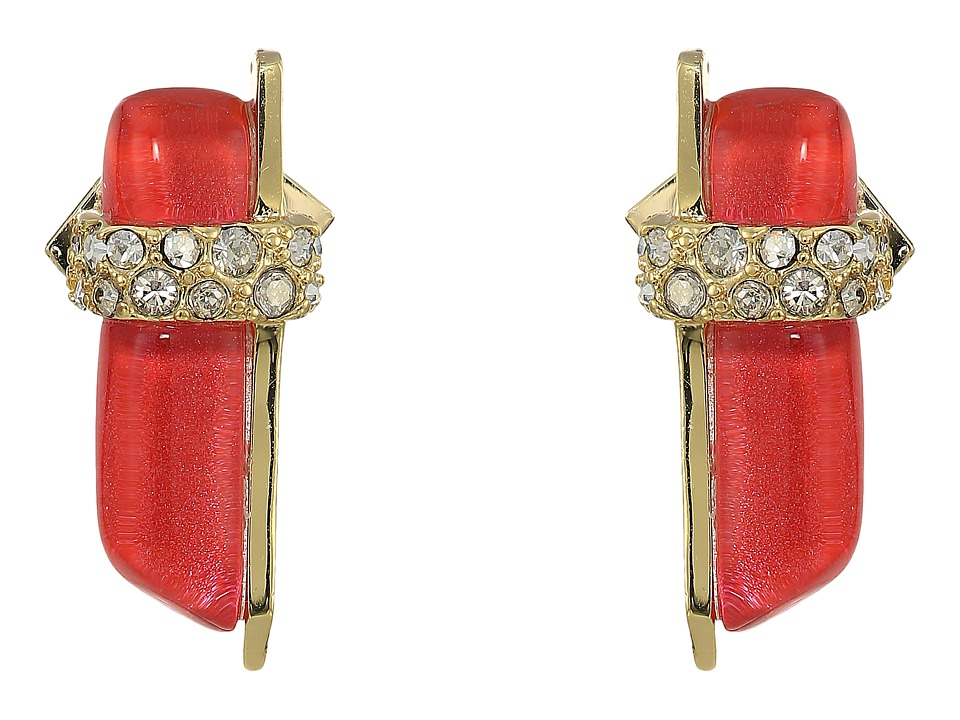 Alexis Bittar - Crystal Encrusted Minimalist Post Earrings (Fire Opal) Earring