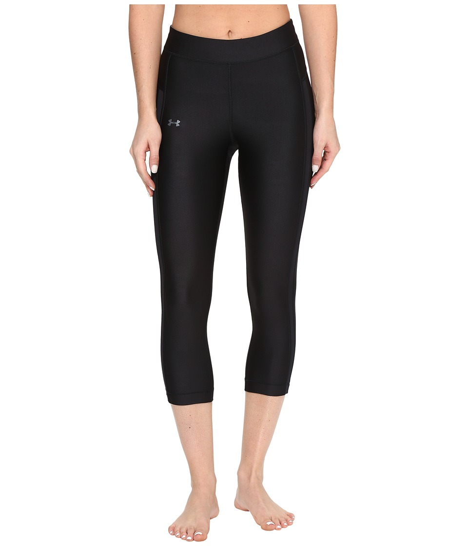Under Armour UA HG Armour Coolswitch Capris (Black/Black) Women