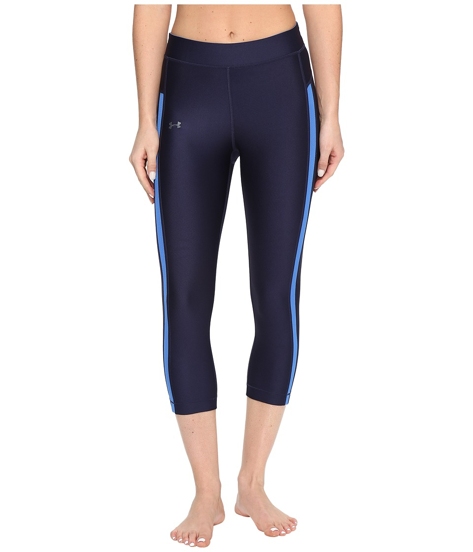Under Armour UA HG Armour Coolswitch Capris (Midnight Navy/Mediterranean) Women