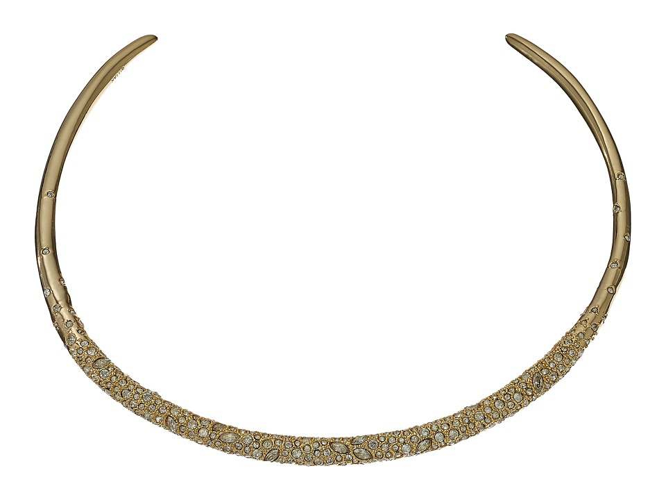 Alexis Bittar - Crystal Encrusted Thin Collar Necklace (10K Gold) Necklace