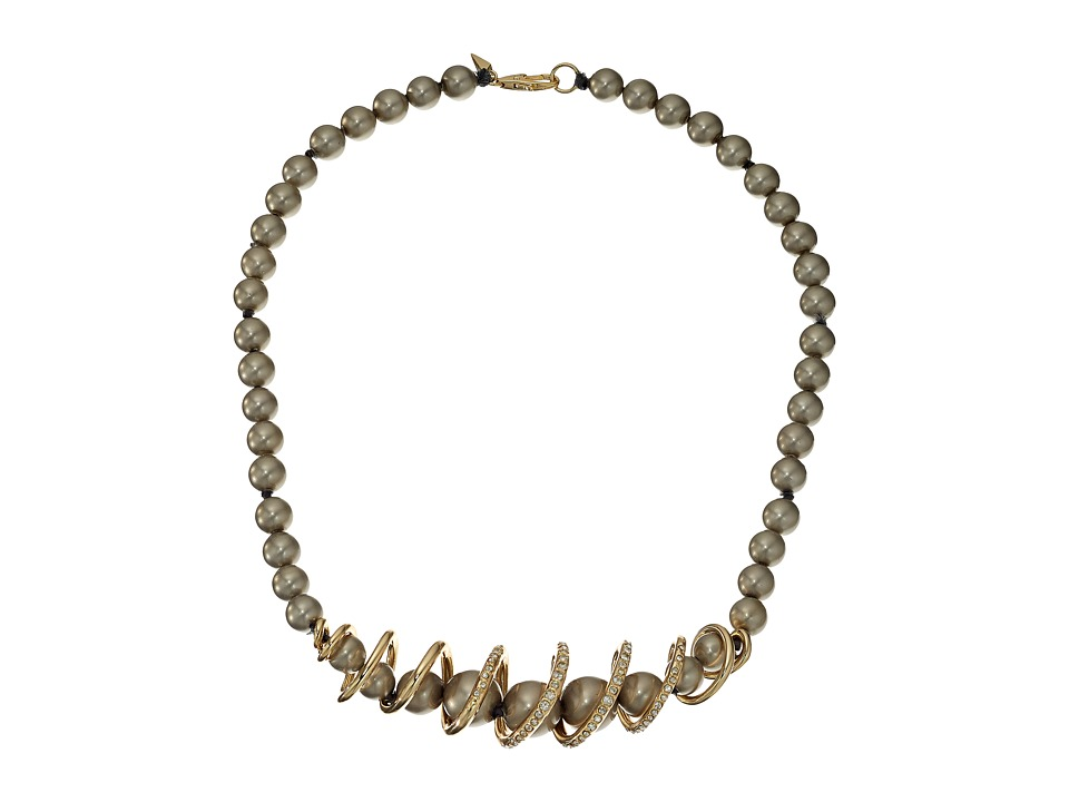 Alexis Bittar - Crystal Encrusted Coiled Strand Necklace (10K Gold) Necklace