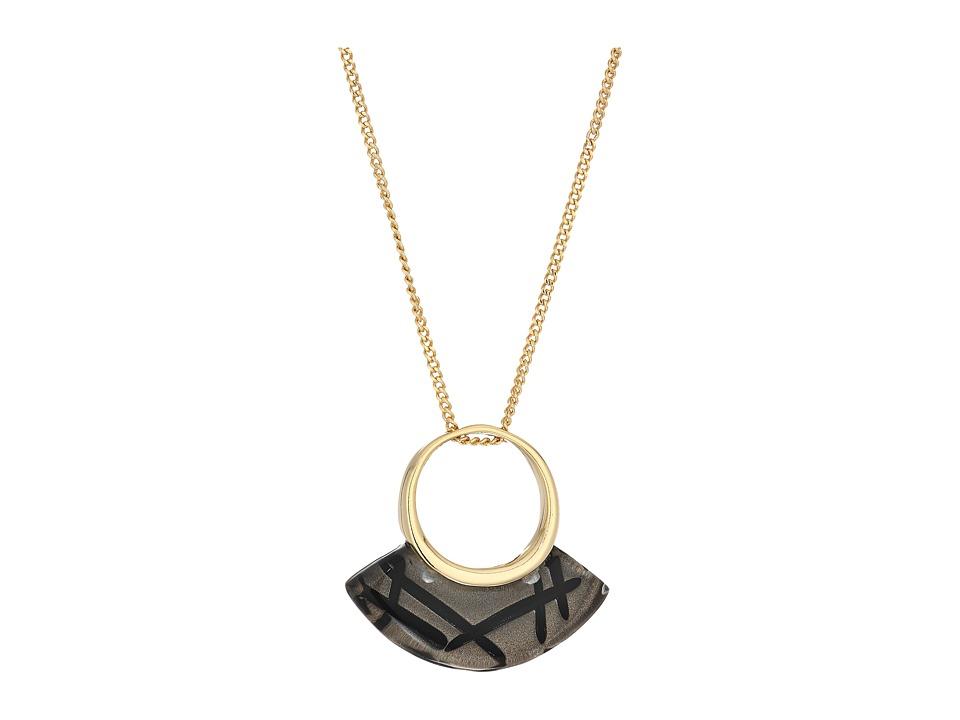 Alexis Bittar - Futurist Pendant Necklace (Rutilated Ash) Necklace