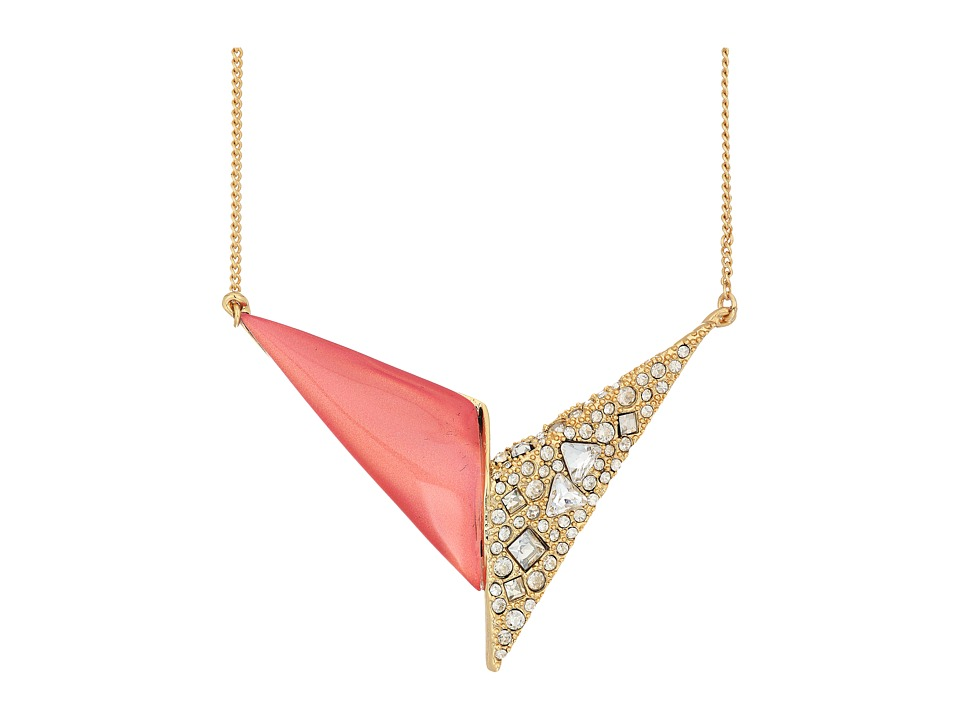 Alexis Bittar - Crystal Encrusted Origami Pendant Necklace (Sweet Melon) Necklace