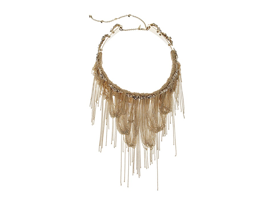 Alexis Bittar - Vintage Fringe Collar w/ Custom Cut Stones Necklace (10K Gold/Rhodium) Necklace