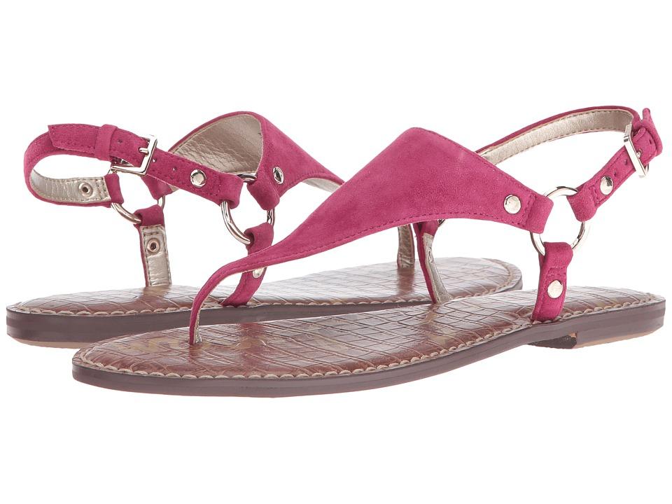 Sam Edelman - Greta (Pink Garnet Kid Suede Leather) Women's Sandals