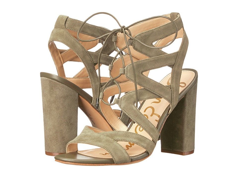 Sam Edelman - Yardley (Moss Green Kid Suede Leather) High Heels