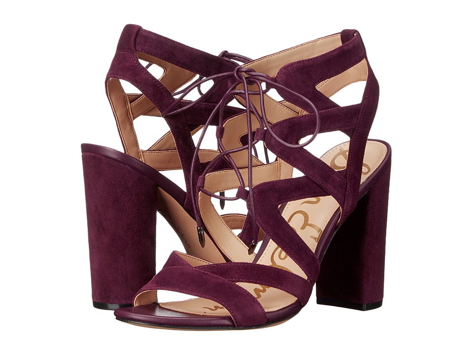 Sam Edelman - Yardley (Port Wine Kid Suede Leather) High Heels