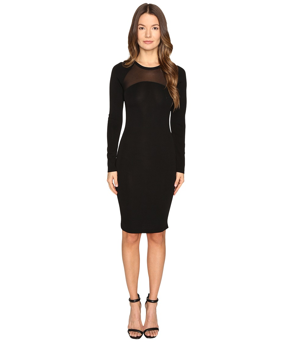 Versace Collection - Knit Dress with Sheer Band (Black) Women's Dress