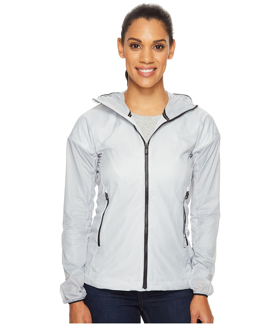 adidas Outdoor - Agravic Alpha Shield Hoodie (Clear Onix) Women's Sweatshirt