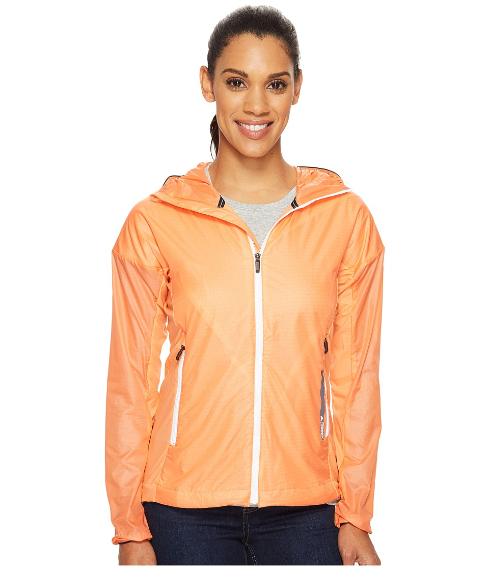 adidas Outdoor - Agravic Alpha Shield Hoodie (Easy Orange) Women's Sweatshirt