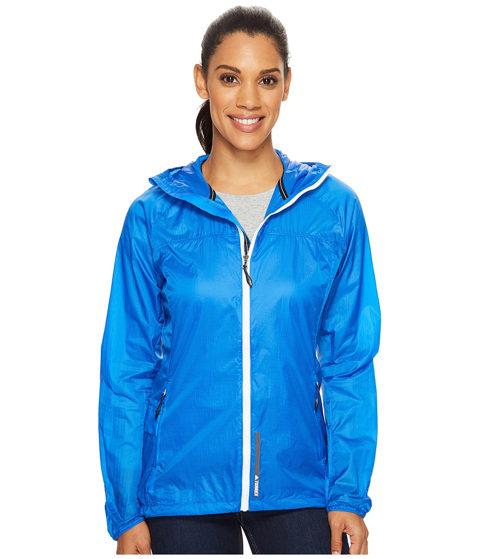 adidas Outdoor - All Outdoor Mistral Wind Jacket (Blue) Women's Coat