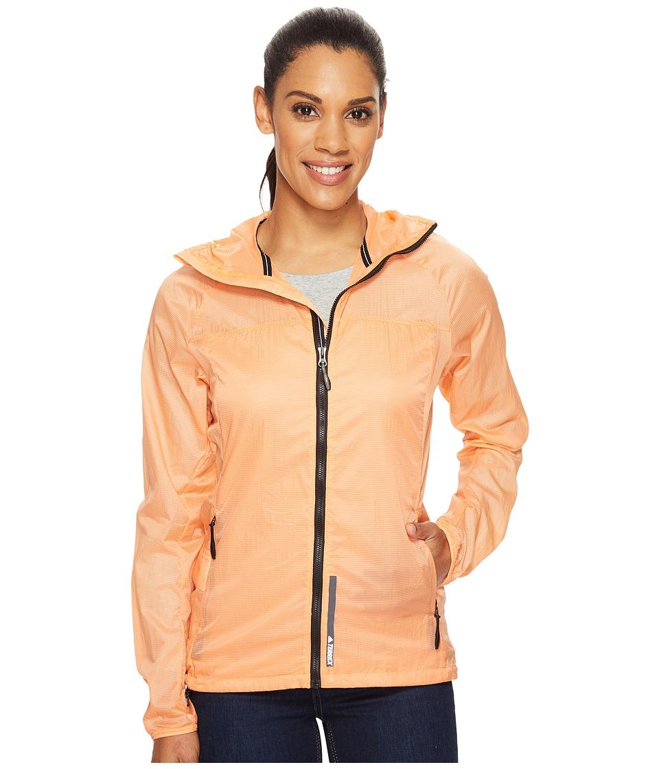 adidas Outdoor - All Outdoor Mistral Wind Jacket (Easy Orange) Women's Coat