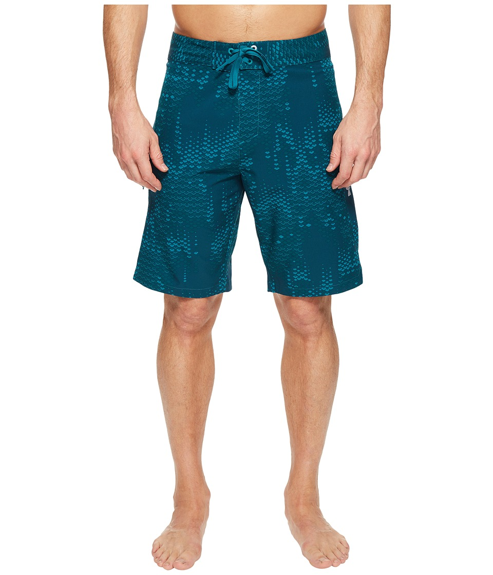 Under Armour UA Reblek Printed Boardshorts (Turquoise Sky/Turquoise Sky/Overcast Gray) Men