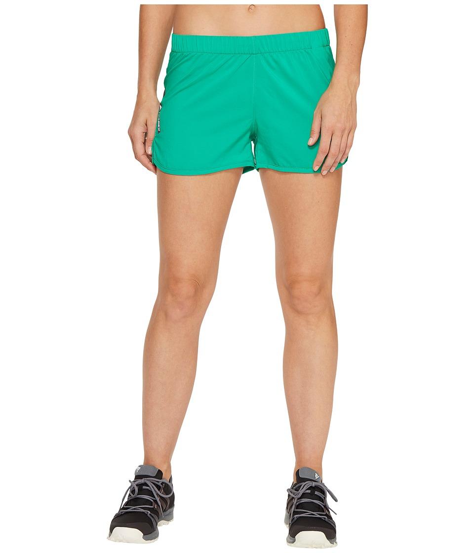 adidas Outdoor - Mountain Fly Shorts (Core Green) Women's Shorts