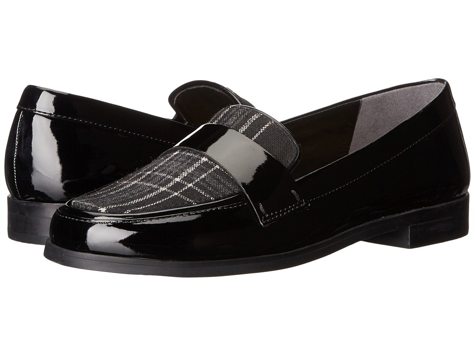 Franco Sarto - Valera (Black Plaid) Women's Slip-on Dress Shoes