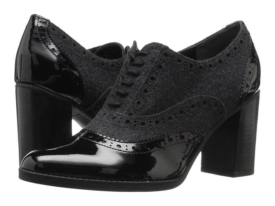 Franco Sarto - Maze (Black Patent/Grey Flannel) Women's Shoes