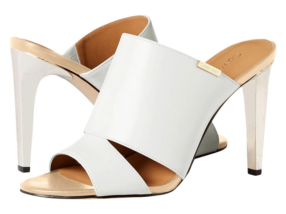 Calvin Klein - Ninfa (Platinum White Leather) Women