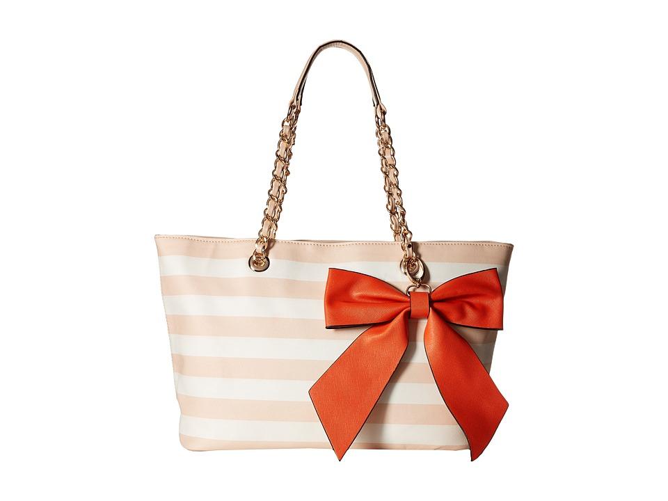 Gabriella Rocha - Dinah Tote with Bow (Peach/Orange) Tote Handbags