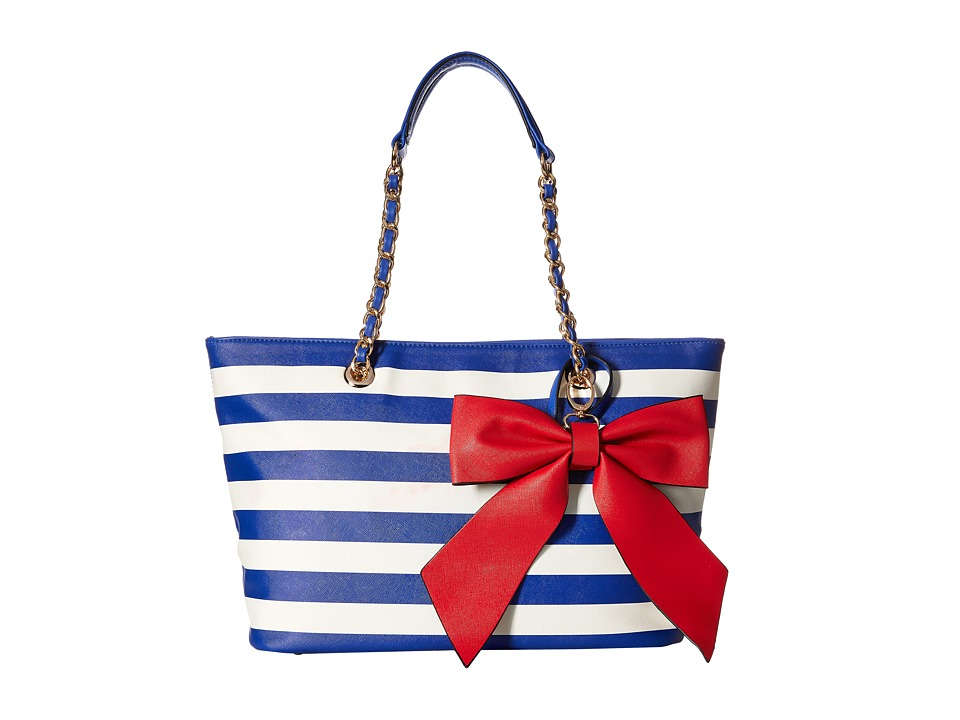 Gabriella Rocha - Dinah Tote with Bow (Red/Blue) Tote Handbags