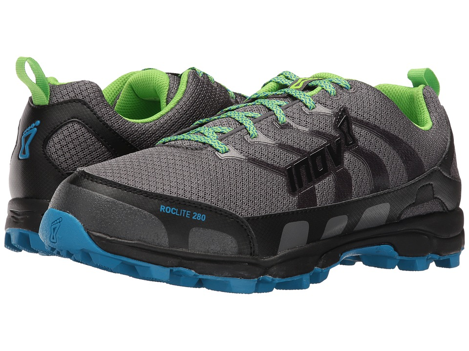 inov-8 - Roclite 280 (Dark Green/Grey/Blue) Men's Running Shoes