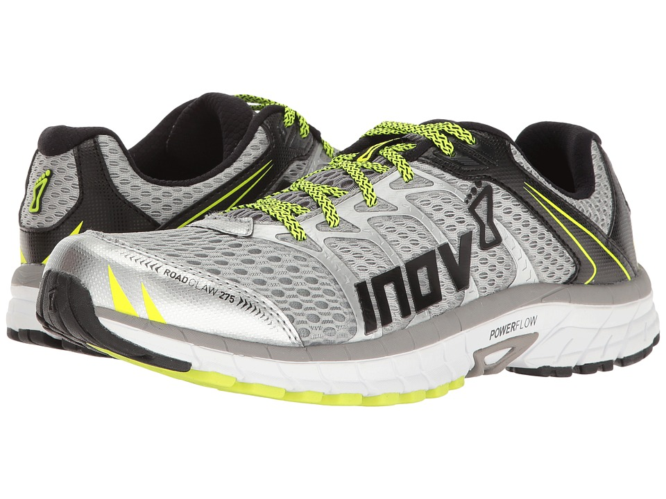 inov-8 - Road Claw 275 (Silver/Grey/Neon Yellow) Men's Running Shoes