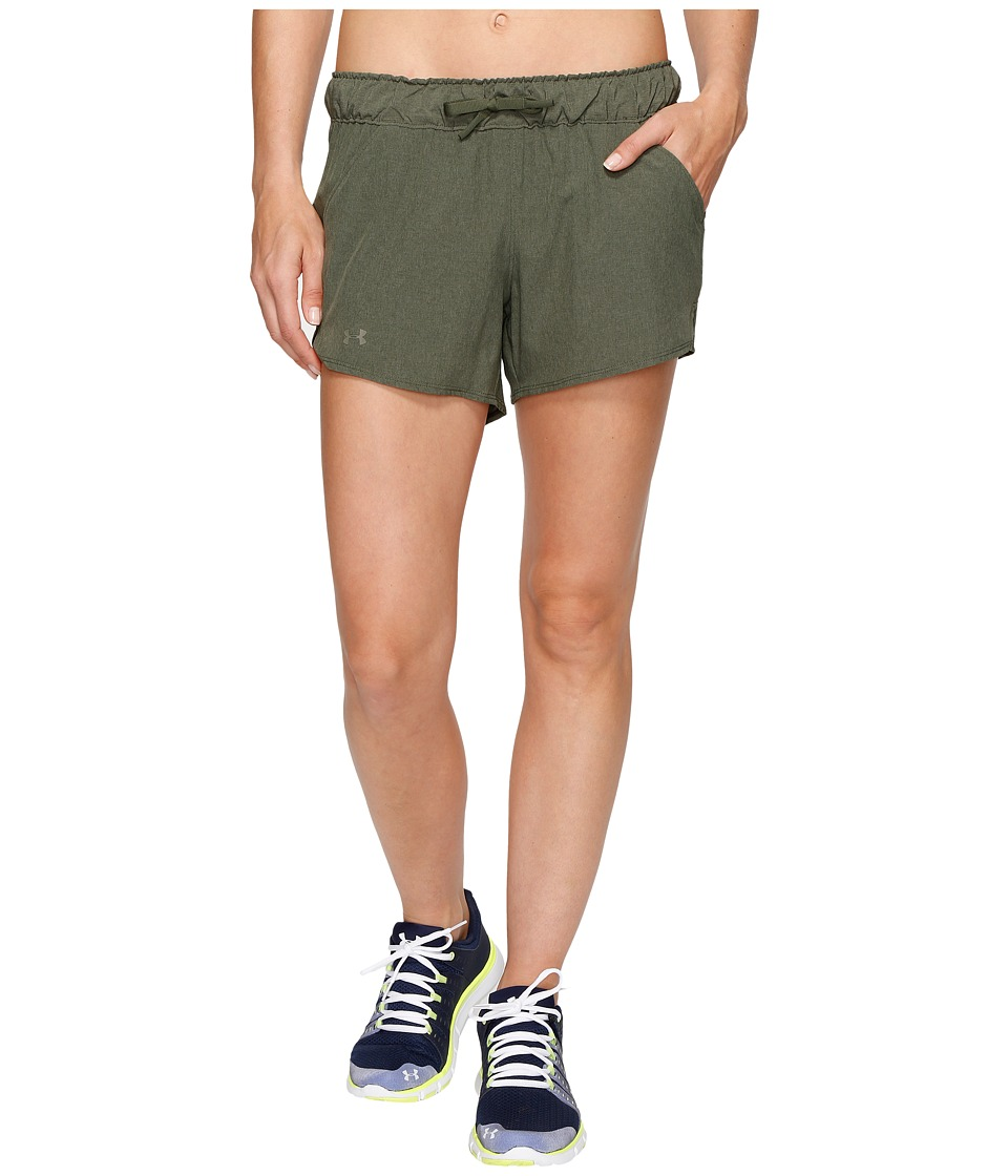 Under Armour - UA Turf Tide Shorts (Downtown Green/Downtown Green/Foliage Green) Women's Shorts
