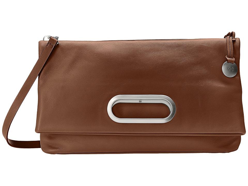 Skagen - Ella Fold-Over (Dark Brown) Cross Body Handbags
